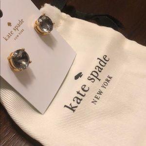 Kate Spade Blue Gem Gold Earrings